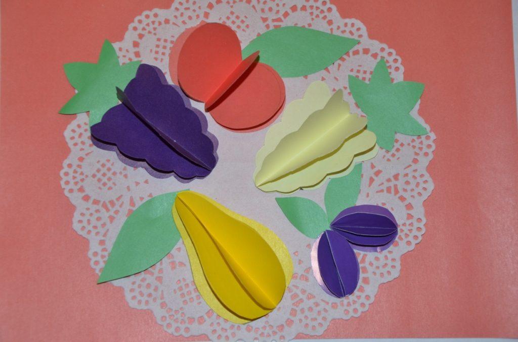 Поделка из бумаги на тему овощи и фрукты 167